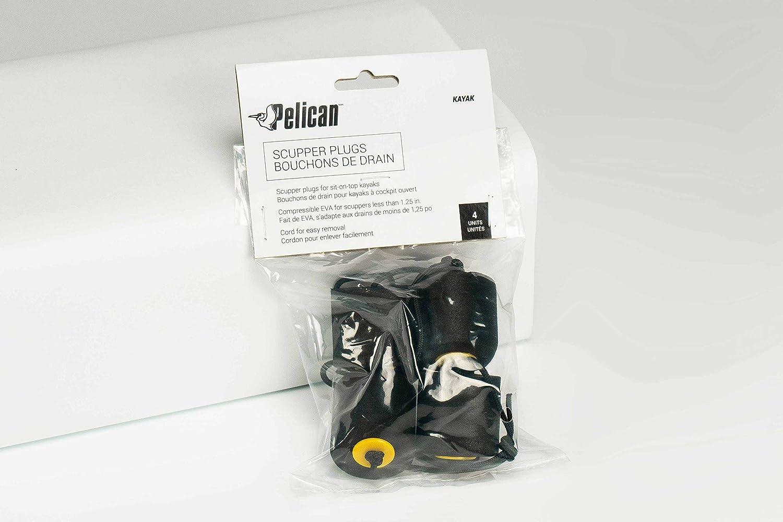 Pelican Sit-on-Top Kayak Scupper Plugs 4 Pack Black Fits Most Kayak EVA Material