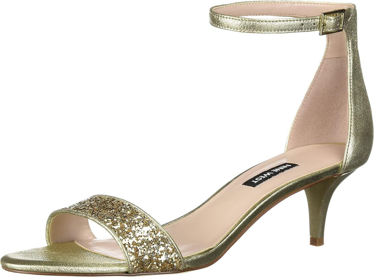 Nine West Damen Leisa METALLIC Sandalen mit Absatz