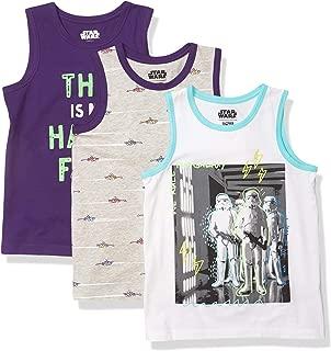 Spotted Zebra Amazon Brand Boy's Disney 3-Pack Sleeveless Tank Tops, Star Wars Troopers, 3T