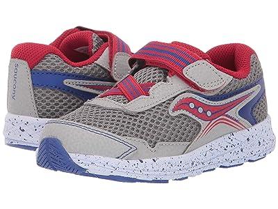 Saucony Kids Ride 10 Jr (Toddler/Little Kid) (Grey/Blue/Red) Boys Shoes
