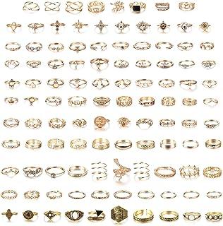 MILACOLATO 108 st midi-ring bohemiska knogringar set mode finger vintage rosa guld/gyllene stapelbara ringar för kvinnor k...