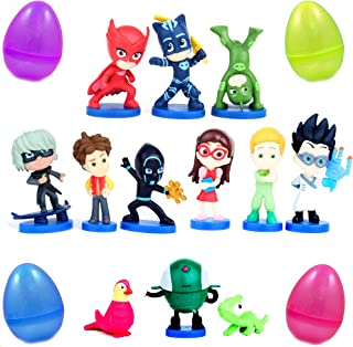 PARK AVE 12 Cartoon Mask Heroes Figures with Jumbo Egg Storage, 2-2.5