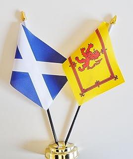 """Schotland Marine Blauw & Schotland Leeuw Rampant Vriendschap Tafelvlag Display 25 cm (10"""") s"""