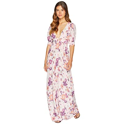 For Love and Lemons Magnolia Maxi Dress (Pink Blossom) Women