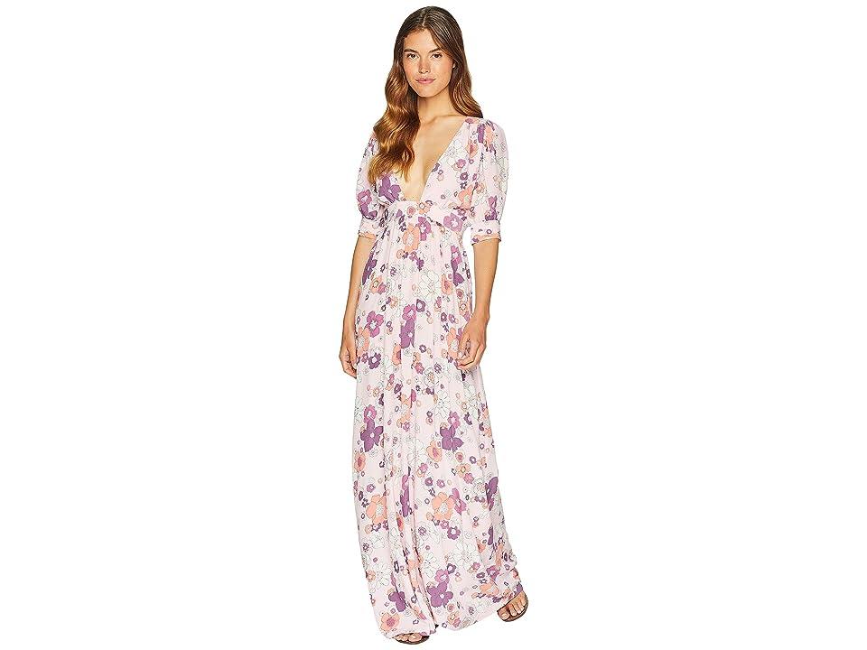 For Love and Lemons Magnolia Maxi Dress (Pink Blossom) Women