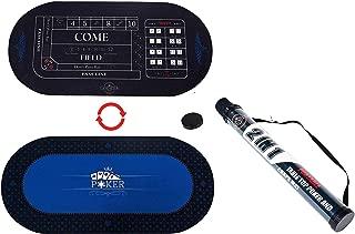 Lancaster 2 in 1 Casino Conversion Poker Table Craps Card Game Portable Felt Mat