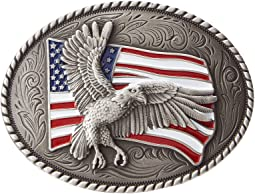 Eagle Flag Oval Buckle