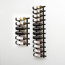 VintageView Wall Series (6 Ft) - 18 Bottle Wall Mounted Wine Bottle Rack Kit (Satin Black) Stylish Modern Wine Storage with Label Forward Design