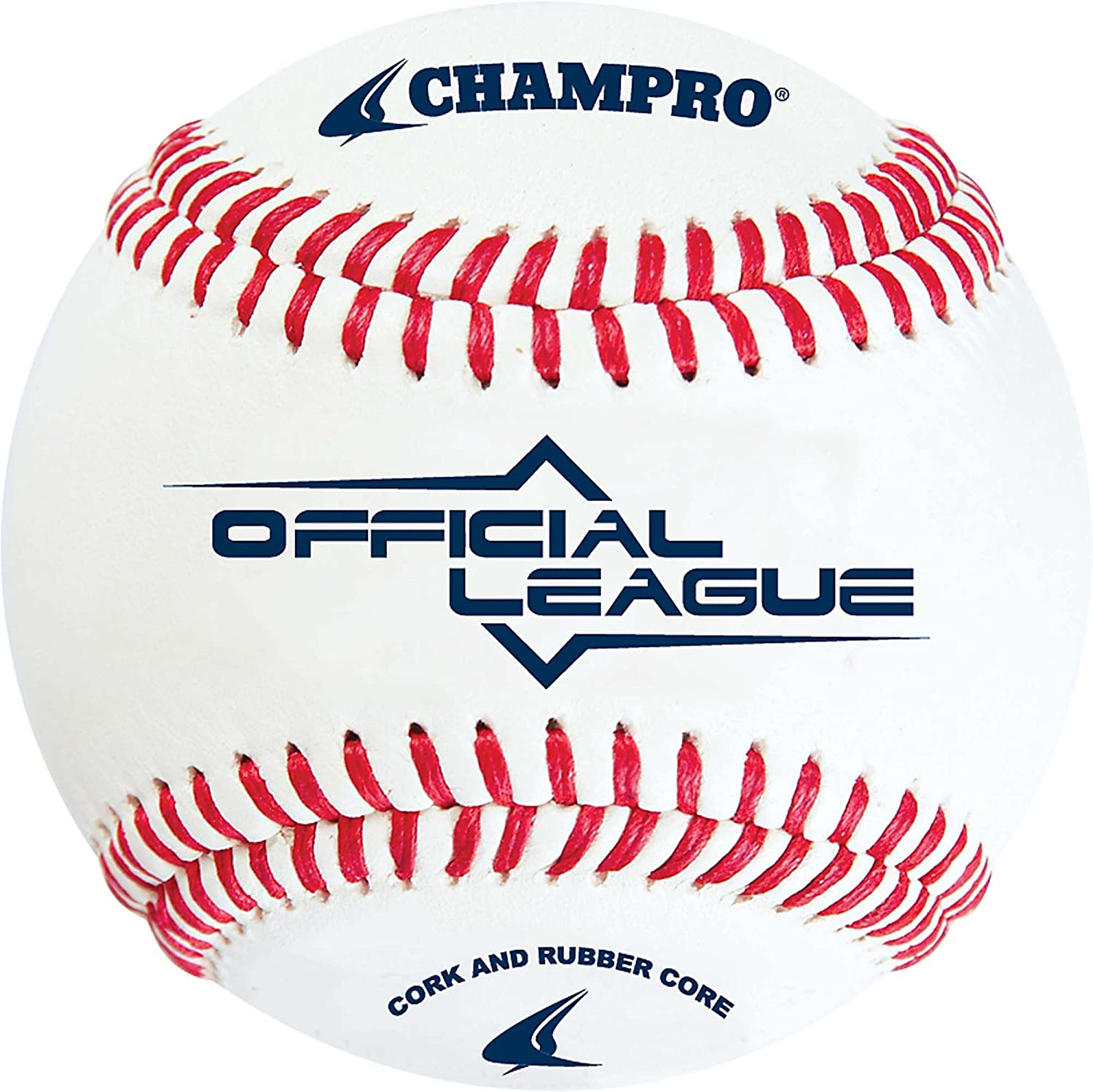 Champro Official League Cork Baseball (White, 9Inch) (Pack of 12)