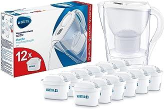 Brita Jahrespaket Cool weiß Marella Water Filter Jug Annual Pack Maxtra (Pack of 12), White