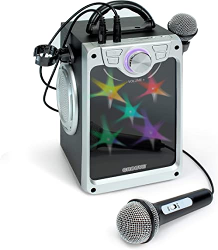 Croove Karaoke Machine for Kids - Karaoke Machine for Kids Boys and Girls with 2 Microphones – Bluetooth, AUX, USB Co...