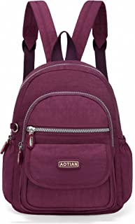 b2ca410436 AOTIAN Mini Nylon Women Backpacks Casual Lightweight Strong Small Packback  Daypack for Girls Cycling Hiking Camping