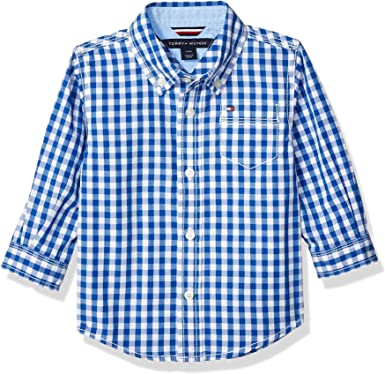 Tommy Hilfiger Niños Charlie Woven Shirt Manga Larga Camisa de botones