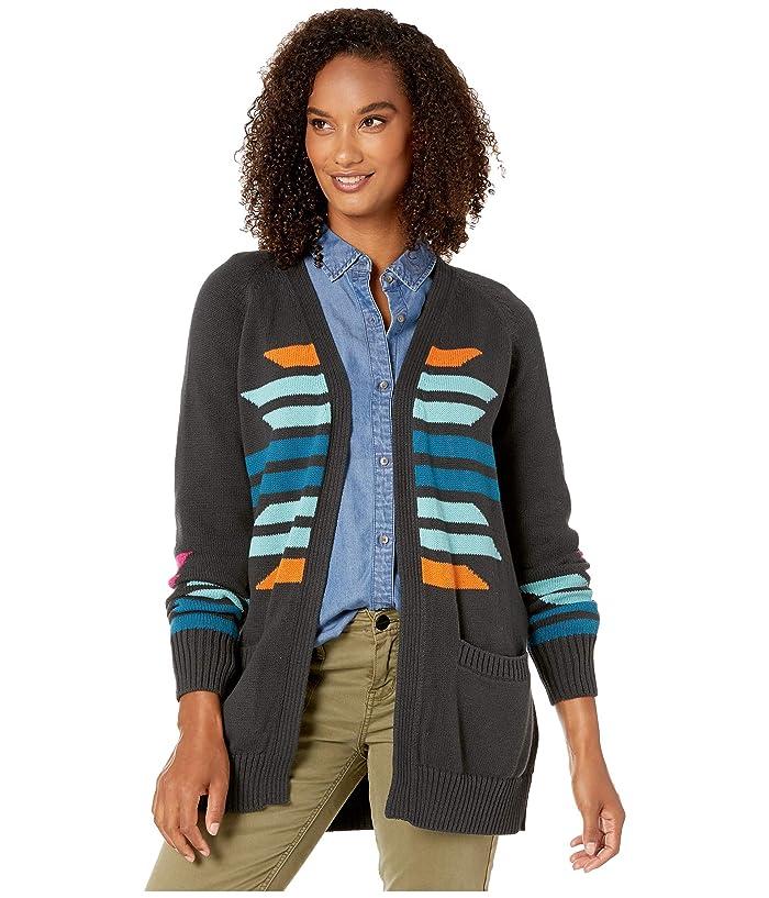 Cactus Bloom Cardigan (Charcoal Multi) Women's Sweater