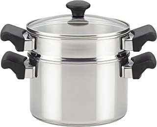 Farberware Classic Stainless Steel Saucepot Steamer Insert and Lid - 3 Quart, Silver