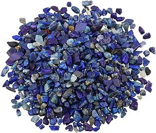 SUNYIK Lapis Lazuli Tumbled Chips Stone Crushed Pieces Irregular Shaped Stones 1pound(About 460 Gram)