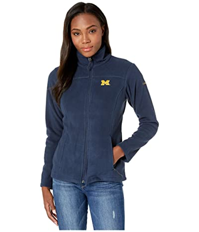Columbia College Michigan Wolverines CLG Give and Gotm II Full Zip Fleece Jacket (Collegiate Navy) Women