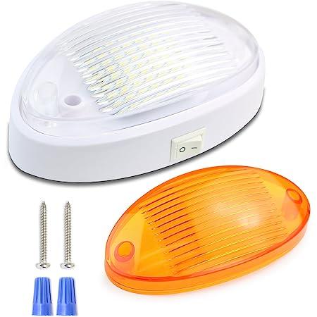 12V Lighting Fixture LED RV Exterior Porch Utility Light Clear Lens 1400 Lumen B