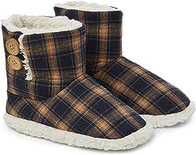 Dunlop Zapatillas Casa Hombre | Zapatillas Altas Calienta Pies Invierno Cerradas Hombre | Pantuflas de Casa para Hombre | Zapatillas Forradas de Borreguito Suela de Goma Dura