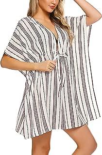 Kimono Cover Up Women Swim Coverup Oversized Striped Beachwear