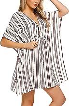 ADOME Kimono Cover Up Women Swim Coverup Oversized Striped Beachwear