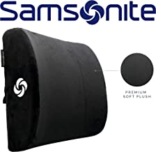 Samsonite SA6041 - Soft Plush Lumbar Support Pillow - Helps Relieve Lower Back Pain - 100% Pure Memory Foam - Improves Pos...