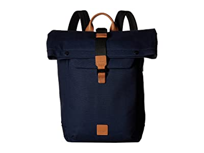 KNOMO London Fulham Novello Roll Top Backpack (Navy) Backpack Bags