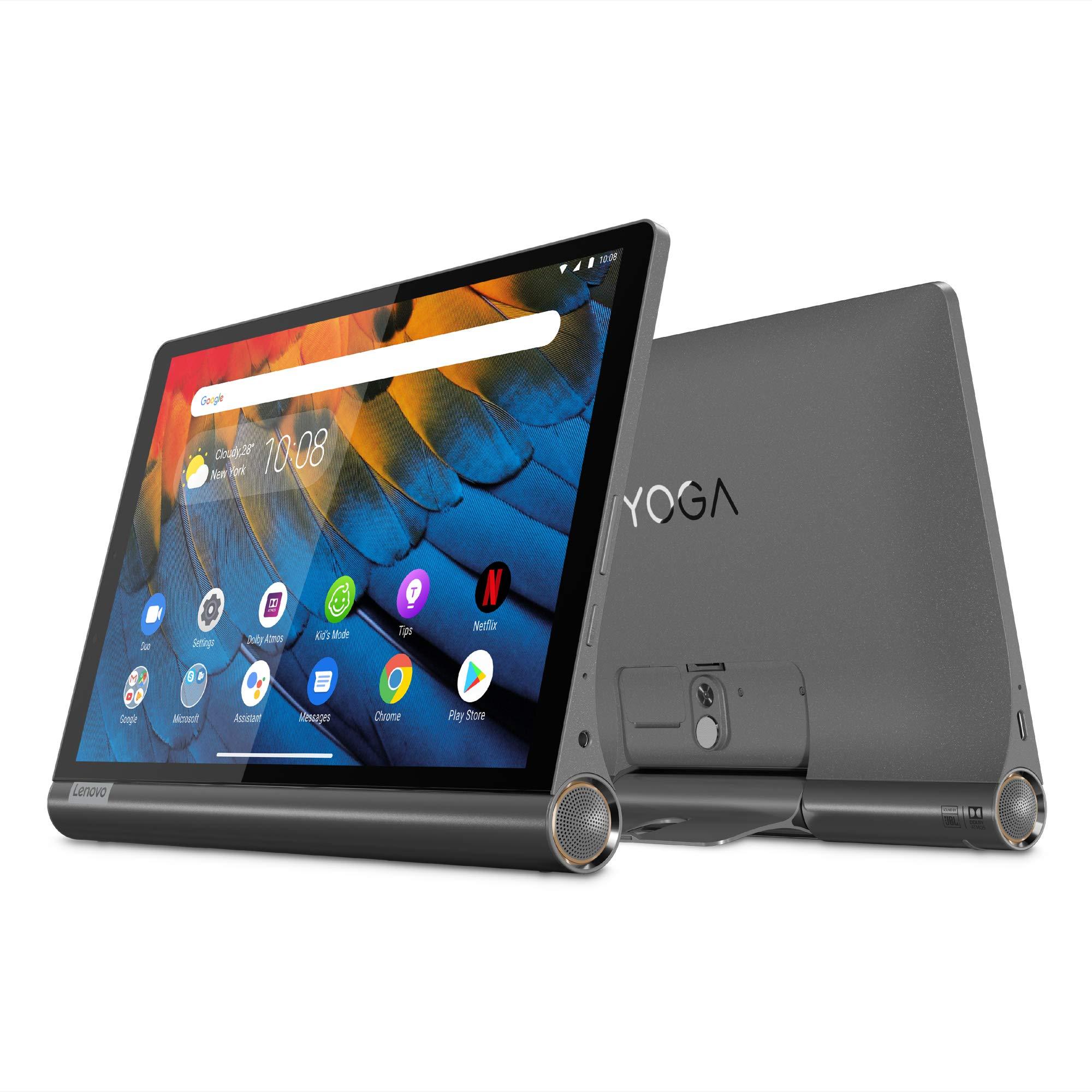 Lenovo Yoga Smart Tab (YT-X705X), 10.1 inch Tablet, Qualcomm Snapdragon 439 Processor, 4GB RAM, 64GB Storage, WiFi+4G LTE, Android OS, Iron Grey - [ZA540000AE]
