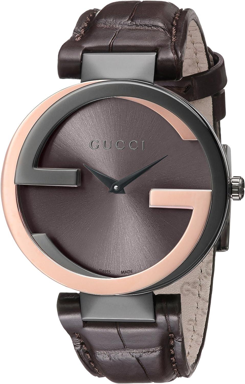 Gucci YA133304 - Reloj de Cuarzo para Mujer, con Correa de Cuero, Color marrón