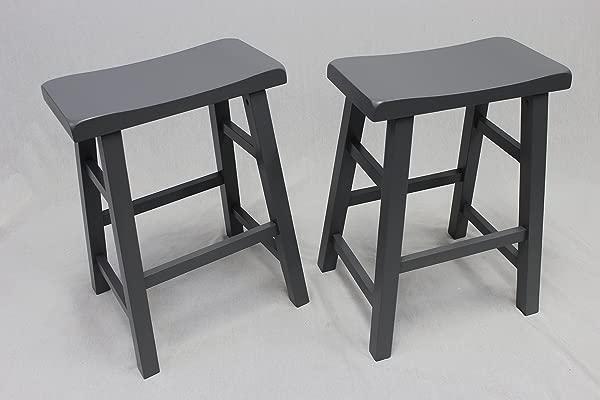 月的重型鞍座垫吧台椅柜台凳 24 灰色