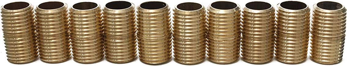LTWFITTING Brass Pipe Close Nipple Fitting 1/4