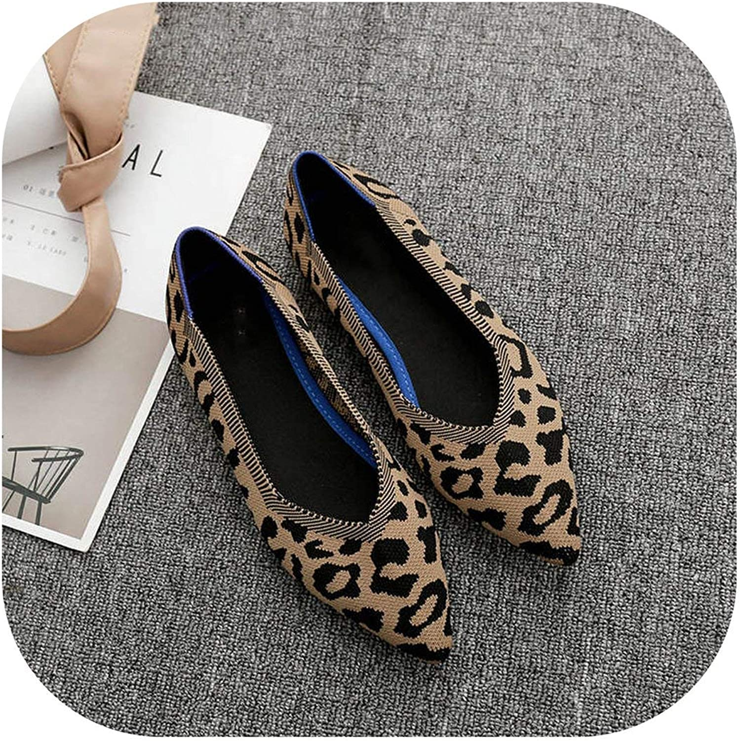 Leopard shoes Women Ladies Flat shoes Creepers Women Loafers Harajuku shoes Woman
