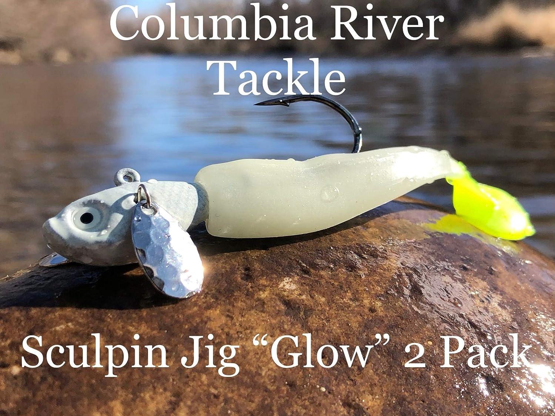 Columbia Latest item River Tackle Sculpin Jig 3 Oz. Memphis Mall 2 Glow 4 Custom Pack