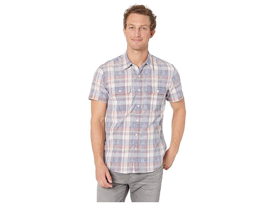 Lucky Brand Short Sleeve Workwear Shirt (Red Plaid) Men