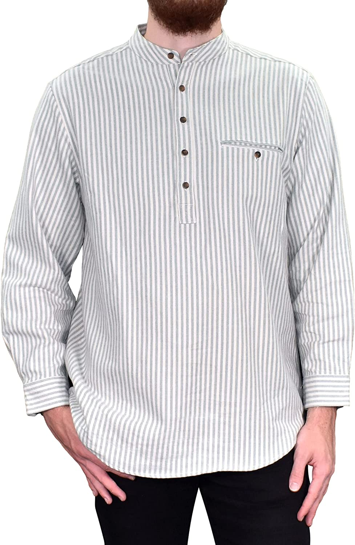 Lee Valley, Ireland Flannel Cotton Grandfather Shirt