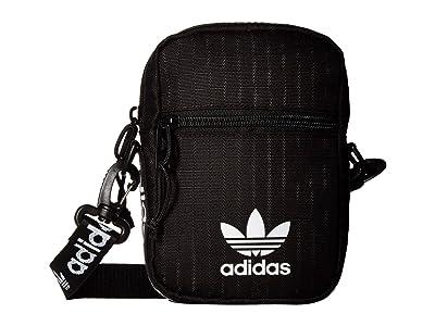 adidas Originals Festival Bag Crossbody (Black/White) Bags