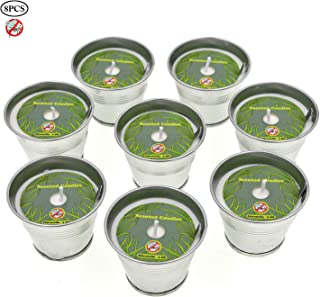Allwindeals Citronella Candles, Natural Soy Wax Scented Candles with Citronella Essential Oil Portable Bucket Candles - Outdoor and Indoor Use -8 Pack