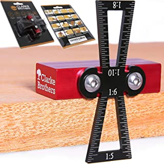 Dovetail marking Jig Dovetail marker guide Featuring 1:5 1:6 1:8 and 1:10 Slopes
