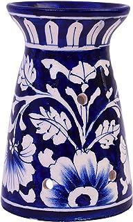 Blue Ceramic Oil Burner, Wax Melter, Blue Pottery Oil Burner, Oil Burner, Aromatherapy Candle Holder, Aromatherapy Oil Bur...