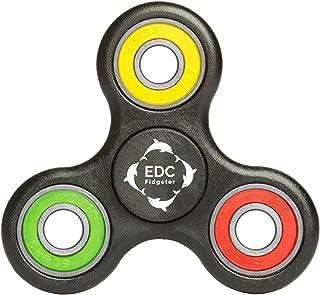 EDC Fidgeter Black Fidget Spinner Prime Quality. Cool Rainbow Hand Spinner & Finger Spinner. Stress Toy for Anxiety, Autism & ADHD. Best Tri Fidget Spinner. Ceramic Fidget for Fidgeting.