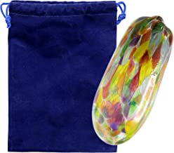 The Dreidel Company Chupah Wedding Glass Jewish Wedding Breaking Glass & Velvet Bag (Rainbow Glass)