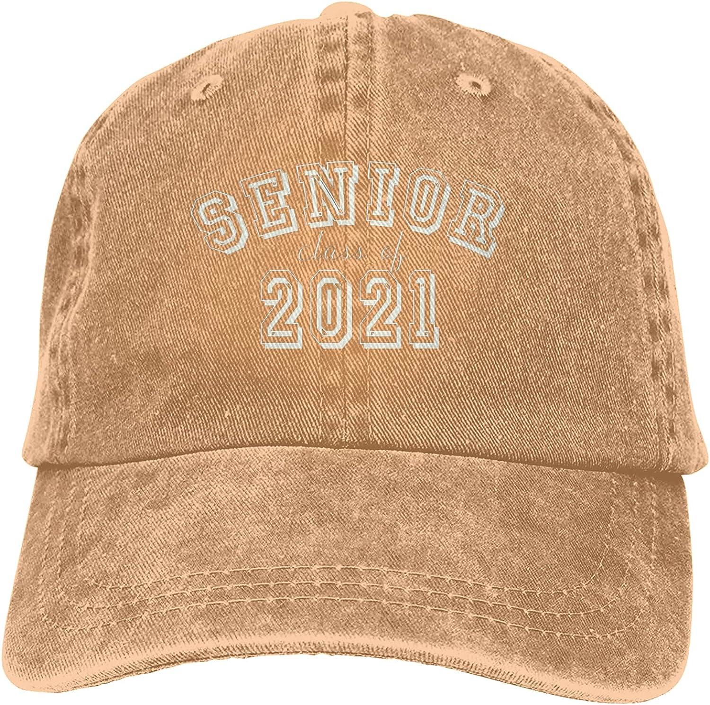BGWORZD Senior for Class of 2021 Hat Adjustable Washed Unisex Dad Hat Cowboy Cap Denim Cap Baseball Cap