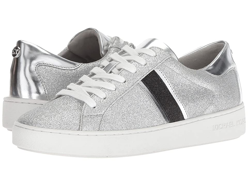 MICHAEL Michael Kors Keaton Stripe Sneaker (Silver/Black Pixie Fine Glitter/Mirror Metallic/Mirror Metallic) Women