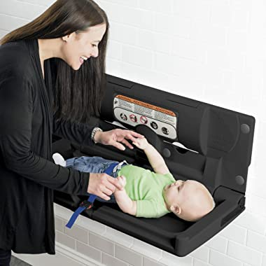 Foundations Classic Horizontal Baby Changing Station, Surface-Mount (Black)