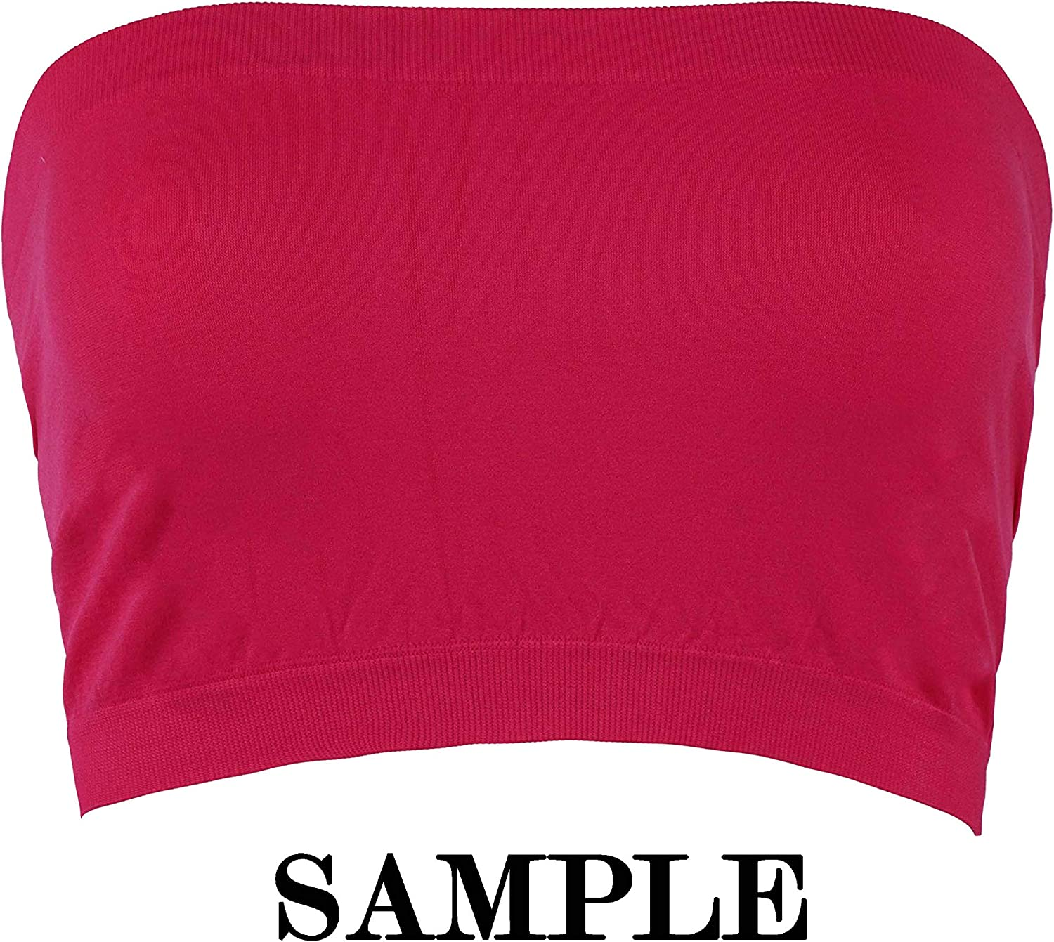 PRO FIT Women's Strapless Bra Bandeau Tube Top Multi Pack Seamless Regular and Plus Sizes