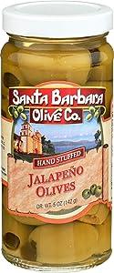 SANTA BARBARA OLIVE Jalapeno Stuffed Olives, 5 OZ
