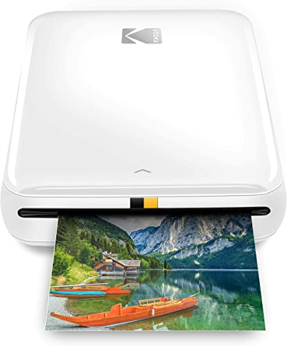 popular Zink Kodak Step Printer   ZINK new arrival Zero Ink Technology Wireless Mobile Photo Printer for Any Bluetooth or NFC outlet online sale Smart Device (White) Sticker Edition, 2x3 (RODMP20KIT9W) online