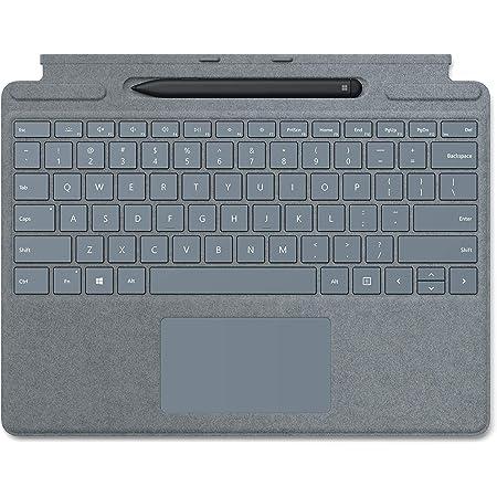 Microsoft Surface Pro X Signature Keyboard in Bundle con penna slim blu ghiaccio (tastiera QWERTZ)