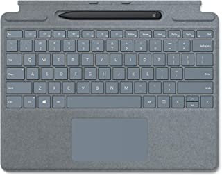 لوحة مفاتيح مايكروسوفت سيرفس برو اكس مع قلم نحيف - ايس بلو (25O-00041)