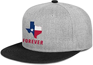 Unisex Hip Hop Flat Cap-I Love Texas Forever Style Adjustable Fits Snapback Hat Sport Cap Outdoors